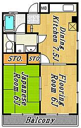 市川第2マンション[4階]の間取り