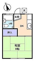 コーポTATSUMA[2階]の間取り