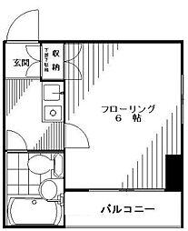東京都世田谷区上馬1丁目の賃貸マンションの間取り