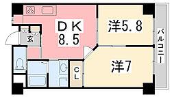 ル.マンド三宅[206号室]の間取り