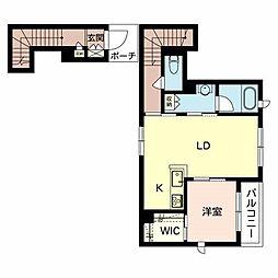 阪急宝塚本線 庄内駅 徒歩7分の賃貸アパート 2階1LDKの間取り