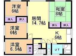 東武コ−ポ 2階4LDKの間取り