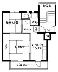 南平台共同住宅[301号室]の間取り