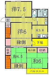 [一戸建] 千葉県松戸市西馬橋3丁目 の賃貸【千葉県 / 松戸市】の間取り