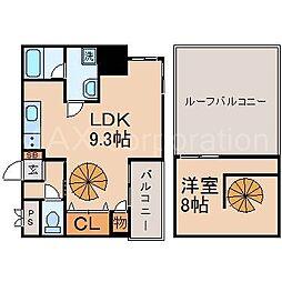 リバーコート[9階]の間取り