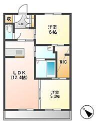 潮見通りマンション[2階]の間取り