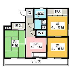 栄ハイム155[1階]の間取り