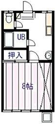 ヴィラフローラ[2階]の間取り