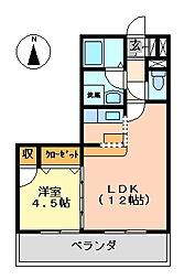 K's2002[402号室号室]の間取り
