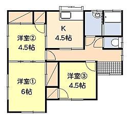 [一戸建] 神奈川県平塚市纒 の賃貸【/】の間取り