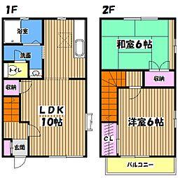 [テラスハウス] 東京都八王子市小宮町 の賃貸【/】の間取り