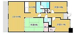 グランブルー近江八幡[2階]の間取り