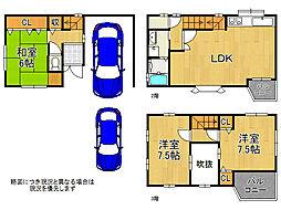 大阪市生野区勝山北5丁目 中古一戸建て 3LDKの間取り