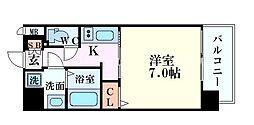 S-RESIDENCE福島grande(エスレジデンス福島グ 7階1Kの間取り