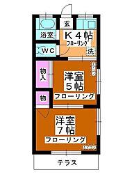 篠崎コーポ[106号室]の間取り