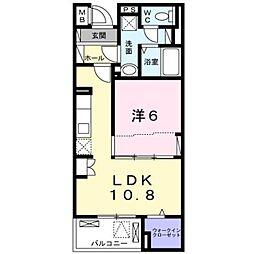 京急本線 上大岡駅 バス15分 公務員住宅入口下車 徒歩3分の賃貸マンション 2階1LDKの間取り