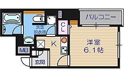 フォレステージュ北堀江[7階]の間取り