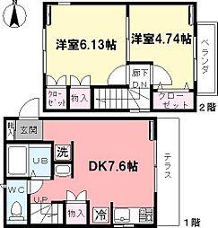 [テラスハウス] 東京都杉並区桃井2丁目 の賃貸【/】の間取り