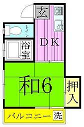 ハイネス笠原[2階]の間取り
