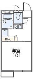レオパレスMIURA[2階]の間取り