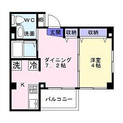 沢之町マンション[203号室]の間取り