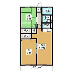 ルミコートT[1階]の間取り