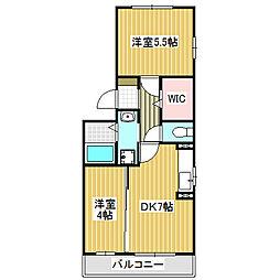 愛知県名古屋市中村区宿跡町2丁目の賃貸アパートの間取り