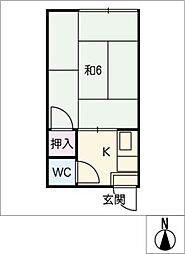 葵荘[1階]の間取り