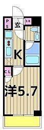 ライジングプレイス堀切[5階]の間取り
