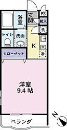 JR日豊本線 国分駅 徒歩17分の賃貸マンション 3階1Kの間取り