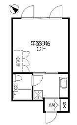 東京都文京区目白台3丁目の賃貸マンションの間取り