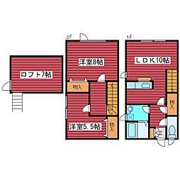 [タウンハウス] 北海道札幌市豊平区西岡五条11丁目 の賃貸【北海道 / 札幌市豊平区】の間取り