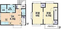 [テラスハウス] 神奈川県厚木市妻田西1丁目 の賃貸【/】の間取り