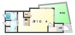 セサンク太子橋[1階]の間取り
