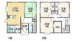 JR東海道・山陽本線 近江八幡駅 徒歩27分 4LDKの間取り