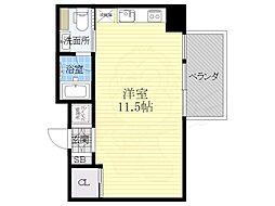 COZY名城公園 8階ワンルームの間取り
