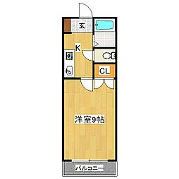 ソリュード[2階]の間取り