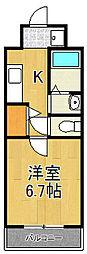 元町ガーデン16[102号室]の間取り