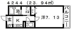ルーツウエストガーデン[306号室号室]の間取り