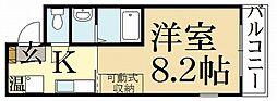 京都府京都市北区紫野西泉堂町の賃貸マンションの間取り