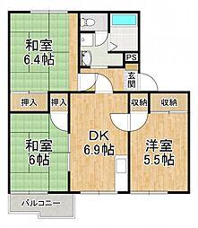 ラ・フォーレ深井B[1階]の間取り