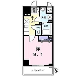 西武新宿線 西武柳沢駅 徒歩7分の賃貸マンション 3階1Kの間取り