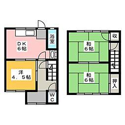 [一戸建] 愛知県稲沢市小池1丁目 の賃貸【/】の間取り