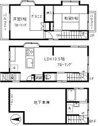 [一戸建] 東京都目黒区目黒本町2丁目 の賃貸【/】の間取り