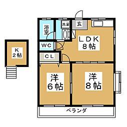 メゾングリュック[2階]の間取り