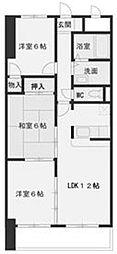 LONE STAR 茶屋ヶ坂[2階]の間取り