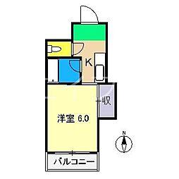 コーポ舟入川[4階]の間取り
