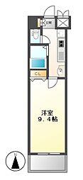 カスタリア志賀本通[10階]の間取り
