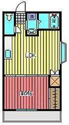 ジョイフルK[2階]の間取り