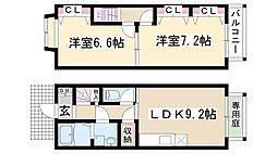 [テラスハウス] 愛知県名古屋市守山区笹ヶ根1丁目 の賃貸【/】の間取り